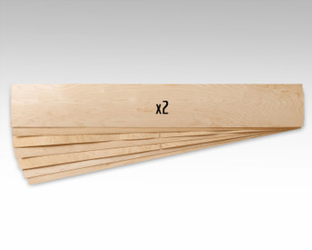 """This 65 x 9.5 x 1/16"""" veneer is suitable for snowboards, skis, dancer longboards, powder surfers, and more!"""