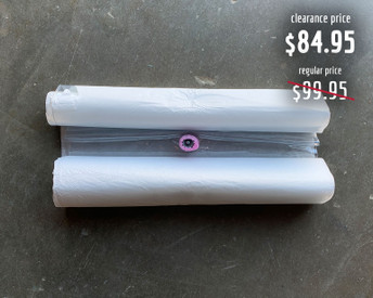 Discounted due to the logo being on the wrong side. Bag function is not affected. Thin Air Press vacuum bag with one-way valve and seal attached.