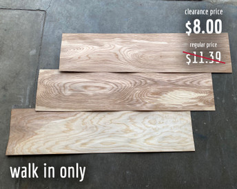 """12 x 48 x 1/16"""" sheets of ash veneer. These sheets are available for walk-in/curbside pickup only as they cannot safely be packed for shipping."""