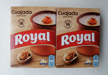 CUAJADA (Spain) Dessert Packet Mix TWO BOXES, 8 Sachets (flat packed cheaper postage)
