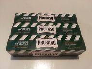 Proraso shaving soap cream 3 x 150ml tubes GREEN menthol and eucalyptus