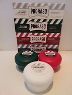 Proraso shaving soap cream Full Range (7) 4 Tubes & 3 Bowls white green red blue
