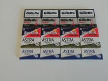 100 Double edge DE razor blades Gillette Rubie Gillette Platinum Sputnik Astra