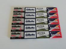 100 Double edge DE razor blades Gillette Rubie Gillette Platinum Sputnik Astra Platinum