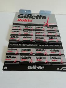 5/10/25/50/100 Gillette Rubie Platinum Plus DE razor blades