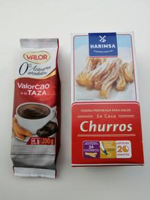 Valor Cao Spanish Sugar Free Hot Chocolate Powder 200g & Churros Packet Mix 500g