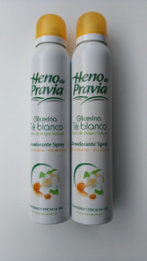 Heno de Pravia Glicerina deodorant spray 200ml x 2 Spanish