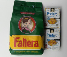 Authentic Spanish Rice Perfect for Paella 2 kg  XL plus Paellero Paella Mix 2 boxes (10 sachets)