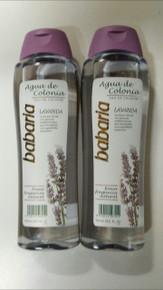 Luxury Spanish Babaria Lavanda Agua de Colonia/Eau de Cologne unisex 600ml x 2