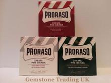 Proraso pre and post shave cream THREE jars ' Pick your own'