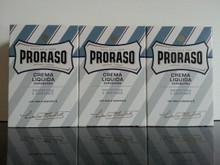 Proraso Aftershave Balm/Crema Liquida 100ml Blue  X3