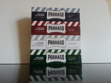 Proraso shaving soap cream 4 (Four) 150ml Tubes white, green, red, blue ' Pick Your Own'