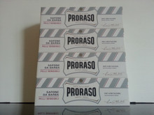 Proraso shaving cream 150ml tubes x 4 WHITE