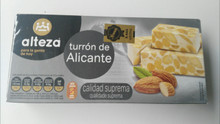 Alteza Turrón de Alicante 1 bar Spanish Almond delicacy 250g
