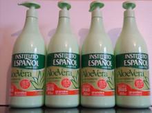 Hand and Body Cream with Aloe Vera. Instituto Espanol XL Size 950 ml X 4