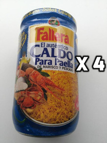 Fallera CALDO DE MARISCO Y PESCADO Concentrated broth for seafood paella x 4