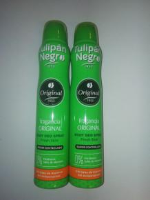Tulipán Negro unisex TULIPAN NEGRO ORIGINAL deodorant spray 200 ml X 2