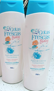 Gotas Frescas Baby by Instituto Espanol Agua de Colonia/Cologne 750ml x 2