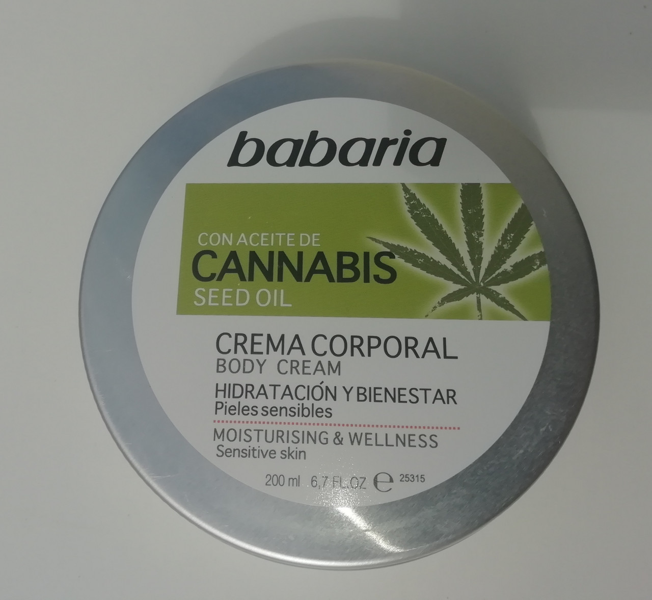 Babaria Body Cream With Cannabis Seed Oil 200ml 100 Vegan