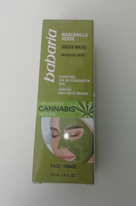 Babaria Green Face Mask with Cannabis Seed Oil 100ml   100% Vegan