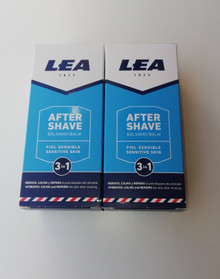 Lea Sensitive Skin ultra cooling 3 in 1 Aftershave Balm 125ml x 2 UK stock
