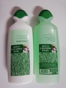 Agua Lavanda Puig, Lavender Family Cologne 750ml and Body Milk 750ml  from Spain