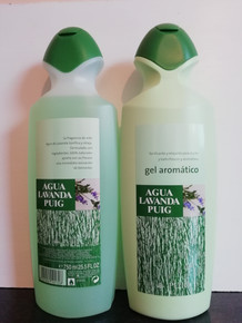 Agua Lavanda Puig, Lavender Cologne & Shower Gel 750ml from Spain.