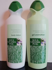 Agua Lavanda Puig, lavender body lotion/milk & shower gel from Spain.
