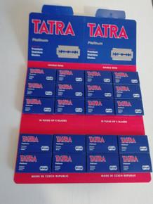 5/10/25/50/100 Tatra Platinum Premium Stainless DE Razor Blades Czech made
