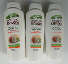 Instituto Espanol Shower Gel COCO/Coconut 1250ML X 3