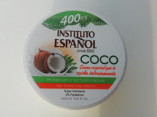 Body Cream with COCO/Coconut by Instituto Espanol 400ml Made in Spain.