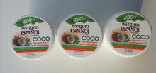Body Cream with COCO/Coconut by Instituto Espanol 400ml Made in Spain x 3