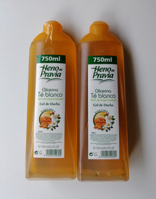 Heno de Pravia Glicerina Te Blanco Shower Gel 750ml x 2