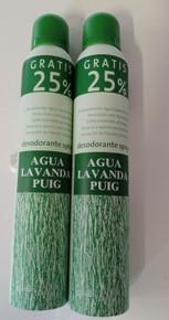 Agua Lavanda Puig luxury Spanish spray deodorant 200ml plus 50ml x 2 UK STOCK
