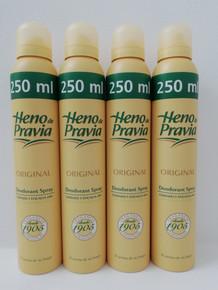 Heno de Pravia Spanish deodorant spray 250ml x 4