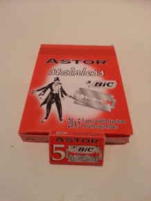 5/10/25/50/100  Astor Stainless BIC Double Edge Safety Razor Blades