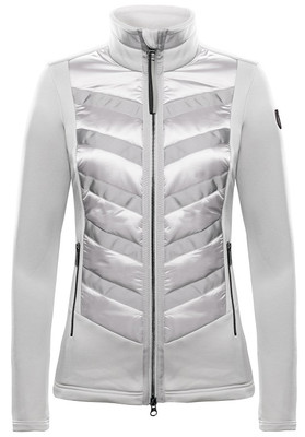 The Valentina Mid-Layer Zippered Fleece Jacket #262312 by Toni Sailer features a chevron pattern