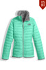 The North Face Reversible Mossbud Swirl Jacket | Girl's | Past Season | NF00CN01 | RWW | Bermuda Green