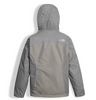 The North Face Girl's Osolita Triclimate Jacket shown here in Metallic Silver (Back). NF0A34UM