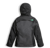 The North Face Girl's Osolita Triclimate Jacket shown here in Graphite Grey (Back). NF0A34UM