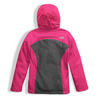 The North Face Girl's Osolita Triclimate Jacket shown here in Petticoat Pink (Back). NF0A34UM