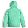 The North Face Girl's Reversible Perrito Jacket shown here in Bermuda Greeen (Back). NF0A2TMG