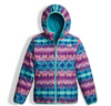 The North Face Girl's Reversible Perrito Jacket shown here in Algiers Blue (Reversed). NF0A2TMG