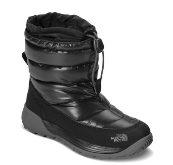 The North Face Youth Thermoball Freestyle After Ski Boots shown here in TNF Black/Dark Bull Grey. NF0A39UW