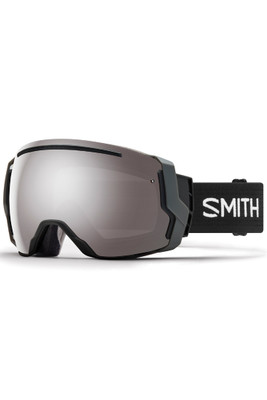 Smith I/O7 Goggles + Spare Lens | Asian Fit | Black | Chromapop Sun Platinum Mirror | Chromapop Storm Rose Flash