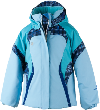 Obermeyer Ski Jacket | Girl's Alta shown in Bleu Sky