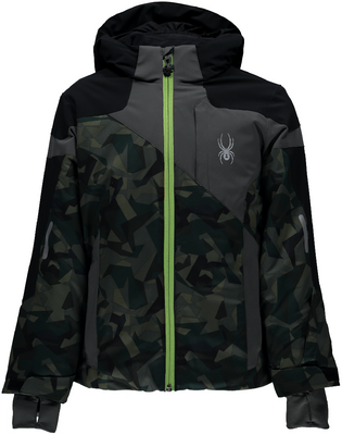 Spyder Ski Jacket | Boy's Chambers | 231010 from the front