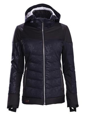 Descente Ski Jackets | Women's Hayden | D89557 in Black Jacquard print