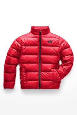 The North Face Andes Down Jacket | Boy's | NF00CHQ6 | KZ3 | TNF Red | TNF Black | Front