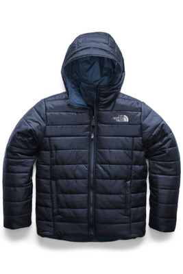 The North Face  Reversible Perrito Jacket | Boy's | NF0A3CQ2 | A7L | Cosmic Blue | Front
